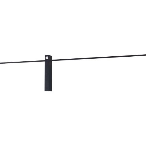 Kinkiet minimalistyczny podłużny Sabre 91 LED czarny MaxLight do łazienki.