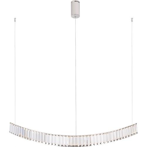 Lampa wisząca podłużna glamour Saphir 100 LED chrom MaxLight do salonu i jadalni.