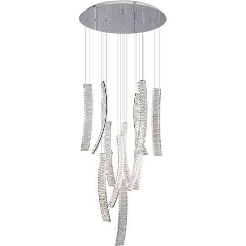 Lampa wisząca glamour Saphir 80 LED chrom MaxLight do salonu i jadalni.