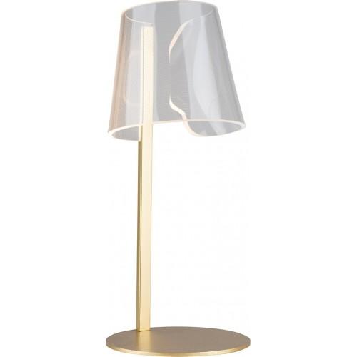 Lampa stołowa glamour Seda LED złota MaxLight do salonu lub na szafkę w sypialni.