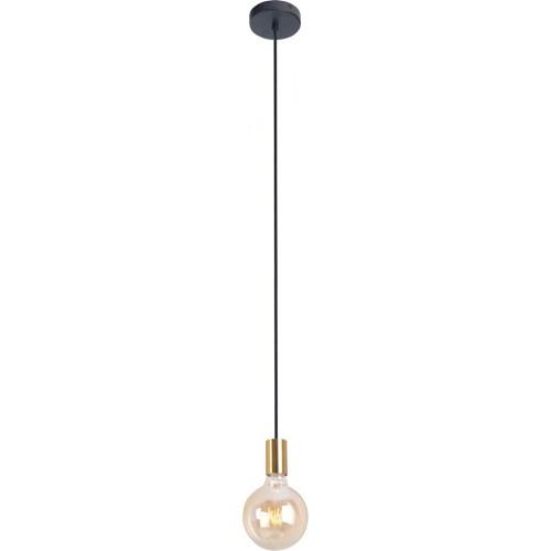 """Stylowa Lampa wisząca """"żarówka"""" na kablu Todi złota MaxLight do kuchni i salonu."""