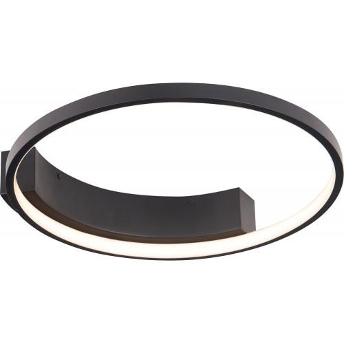 Plafon okrągły nowoczesny Velvet 40 LED czarny MaxLight do salonu i sypialni.