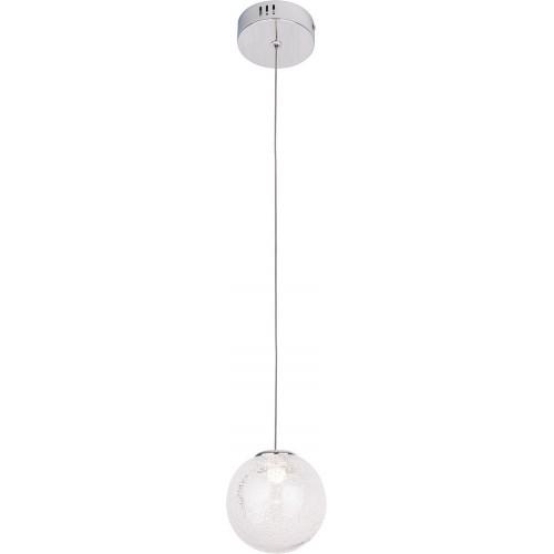 Lampa wisząca szklana kula glamour Zoe 9 LED chrom MaxLight do salonu i jadalni.