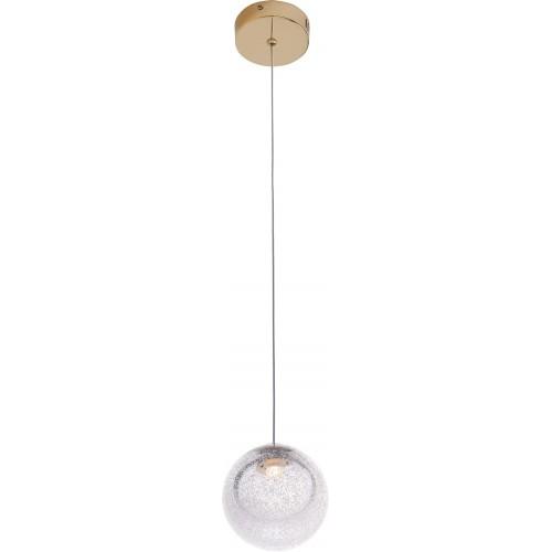 Lampa wisząca szklana kula glamour Zoe 9 LED złota MaxLight do salonu i jadalni.