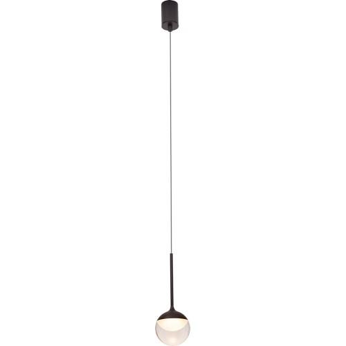 Lampa wisząca kula designerska Zoom LED 10 czarna MaxLight do salonu i nad stół.