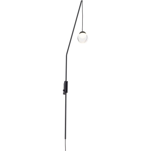 Stylowy Kinkiet wiszący designerski Zoom LED czarny MaxLight do sypialni i salonu.