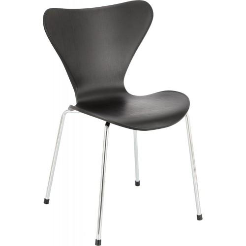 Designerskie Krzesło designerskie z tworzywa Martinus czarne D2.Design do kuchni i salonu