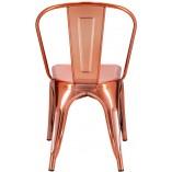 Designerskie Miedziane krzesło designerskie Paris D2.Design do kuchni i salonu
