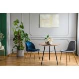 Stół okrągły industrialny Sottile 80 drewniano-czarny Simplet do salonu
