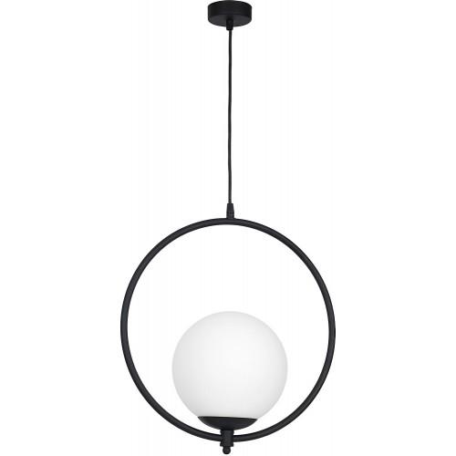 Lampa wisząca szklana kula Sol Black...