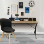 Biurko industrialne ze ścianką Brico 90 czarne Intesi do gabinetu