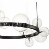 Lampa wisząca szklane kule Orion 85 przezroczysto-czarna Step Into Design do salonu