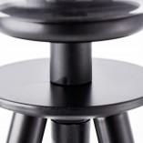 Stylowa Lampa stołowa szklana kula Afton przezroczysto-czarna Brilliant do salonu i sypialni