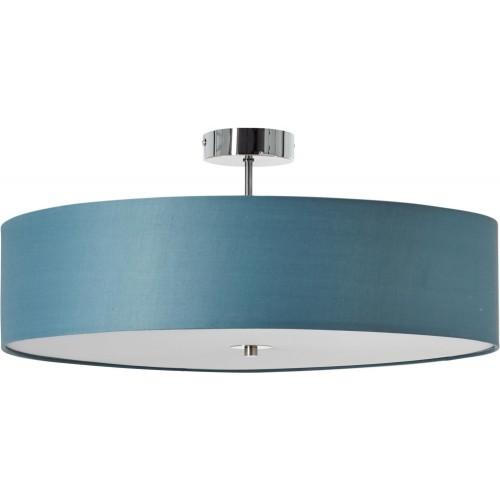 Designerski Plafon okrągły z abażurem Andria 60 niebieski Brilliant do przedpokoju i kuchni