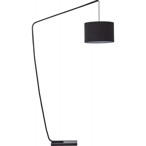 Lampa podłogowa z abażurem Daria czarna Brilliant do salonu i sypialni