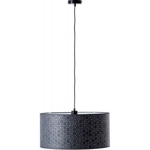 Lampa wisząca z abażurem Galance 50 czarna Brilliant do salonu