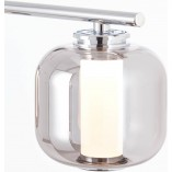 Lampa wisząca szklana nowoczesna Rafa LED 56 chrom/szkło dymione Brilliant do salonu