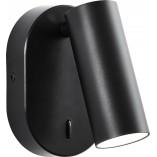Kinkiet regulowany z włącznikiem Soeren LED czarny Brilliant salonu i sypialni