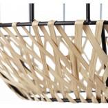 Lampa wisząca druciano-bambusowa Templo 37 czarny/naturalny Brilliant do salonu
