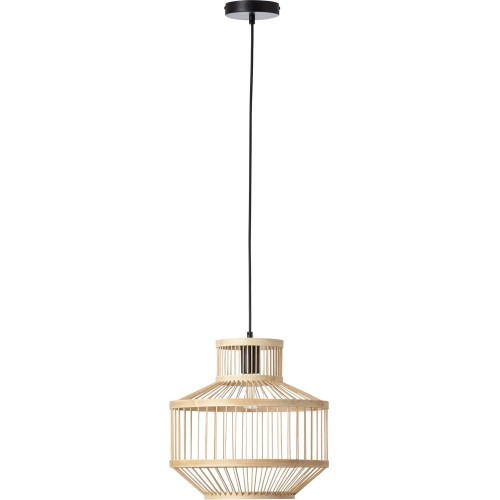 Lampa wisząca bambusowa boho Teva 35 czarny/naturalny Brilliant do salonu