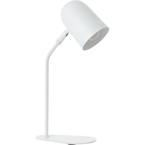 Lampa biurkowa skandynawska Tong biały mat Brilliant do nauki i czytania
