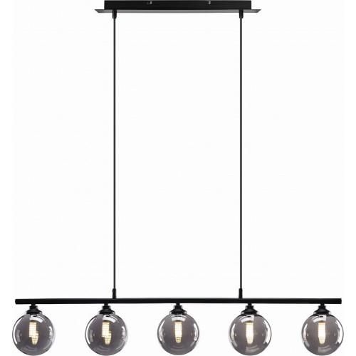 Designerska Lampa wisząca podłużna szklana Imagine 90 szary lister Auhilon do kuchni i salonu