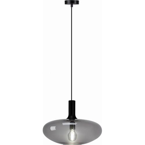 Designerska Lampa wisząca szklana Sorento 40 szary lister Auhilon do kuchni i salonu