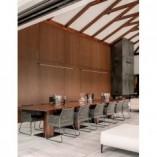 Designerska Lampa wisząca podłużna minimalistyczna Terral 120 LED czarny piaskowy do kuchni i salonu