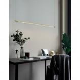 Designerska Lampa wisząca podłużna glamour Terral 120 LED mosiądz/złoty do kuchni i salonu