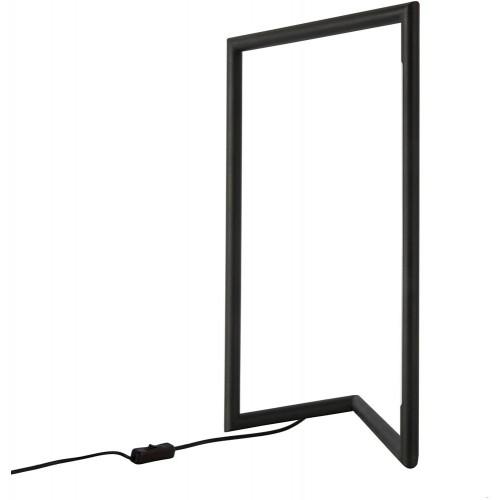 Stylowa Lampa stołowa minimalistyczna Simon LED czarna sypialni