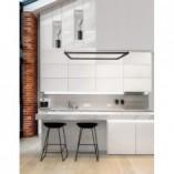 Designerska Lampa wisząca kwadratowa Natan 100 LED czarny piaskowy do kuchni i salonu
