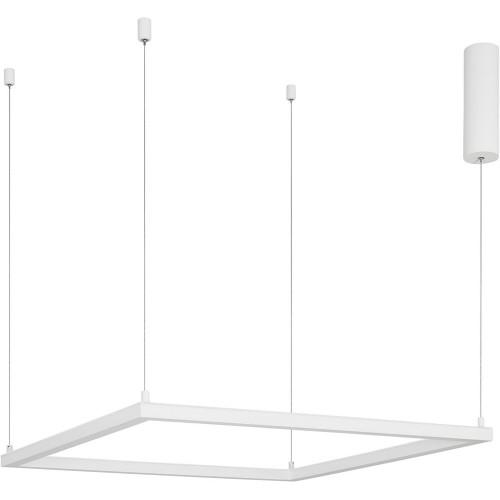 Designerska Lampa wisząca kwadratowa Natan 75 LED biały piaskowy do kuchni i salonu