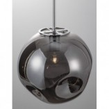 Designerska Lampa wisząca szklana kula Naymar 30 chrom/szkło dymione do kuchni i salonu