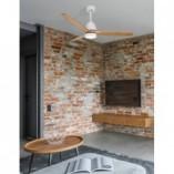 Designerska Lampa sufitowa/wiatrak skandynawski Bind 132 LED biały mat/dąb do salonu i jadalni