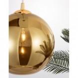 Designerska Lampa wisząca szklana kula Lavizzo 35 złota do kuchni i salonu