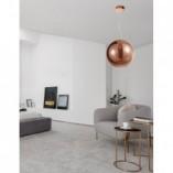 Designerska Lampa wisząca szklana kula Lavizzo 35 miedziana do kuchni i salonu