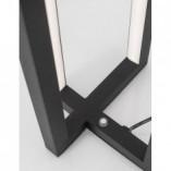 Stylowa Lampa stołowa nowoczesna Rossio LED czarna sypialni