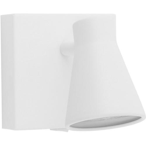 Stylowy Kinkiet regulowany z włącznikiem Blink biały piaskowy do sypialni