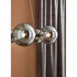 Stylowa Lampa wisząca szklane kule Circle 71 szkło dymione/czarny Markslojd do kuchni i salonu