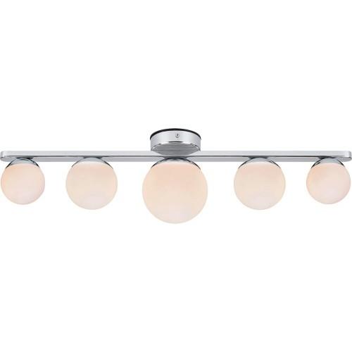 Designerski Plafon łazienkowy szklane kule Puro 65 biało-chromowany Markslojd