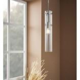 Stylowa Lampa wisząca szklana tuba Tubo 7 przezroczysta Markslojd do kuchni i salonu
