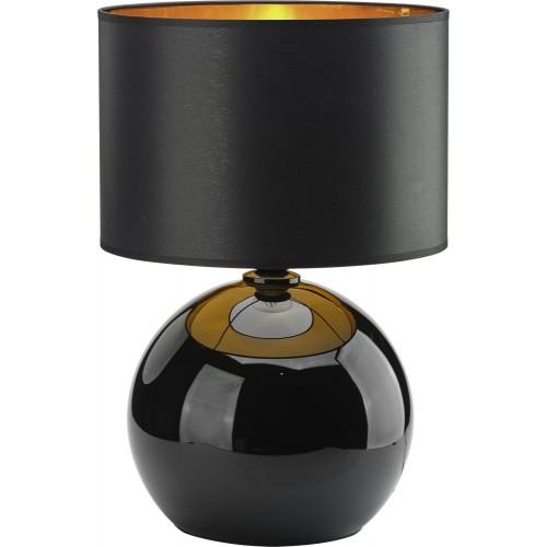 Stylowa Lampa stołowa szklana z abażurem Palla czarno-złota TK Lighting sypialni