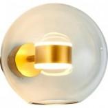 Designerski Kinkiet szklana kula Bubbles przezroczysto-złoty Step Into Design do sypialni i salonu