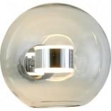 Designerski Kinkiet szklana kula Bubbles Chrome przezroczysty Step Into Design do sypialni i salonu