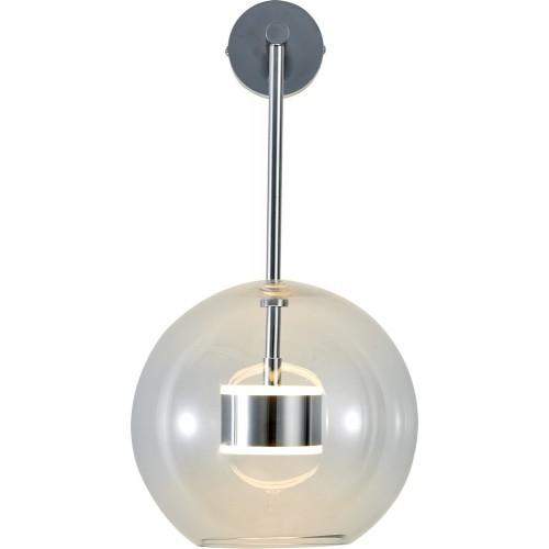 Designerski Kinkiet szklana kula wisząca Bubbles Chrome przezroczysty Step Into Design do sypialni i salonu
