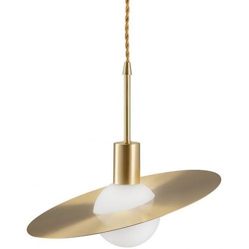 Stylowa Lampa wisząca szklana glamour Jupiter 30 biało-złota Step Into Design do kuchni i salonu