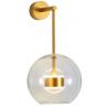 Designerski Kinkiet szklana kula wisząca Bubbles przezroczysto-złoty Step Into Design do sypialni i salonu