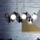Nowoczesna Lampa wisząca nowoczesna Drifton VI czarno-biała Emibig nad stół
