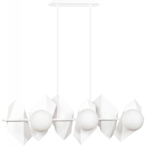 Nowoczesna Lampa wisząca nowoczesna Drifton VI biała Emibig nad stół