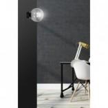 Stylowy Kinkiet szklana kula Rossi 15 czarno-grafitowy Emibig do sypialni i salonu